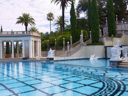brenda kean: Swimming Pool with Greek Roman Style in California USA