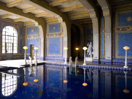 opulent: Roman style baths in California