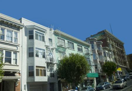 typical Street in San Francisco California USA