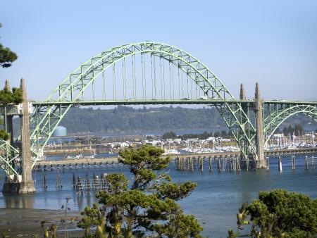 capes: The Yaquina Bay Bridge in Oregon USA
