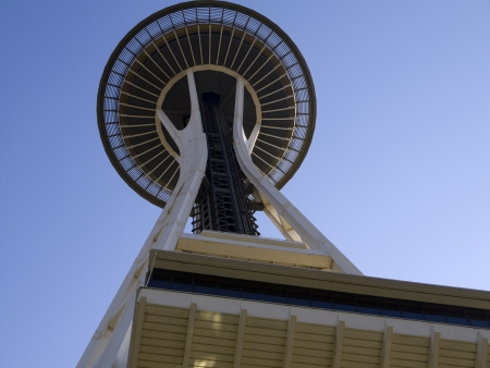 Space Needle tower in Seattle Washington USA