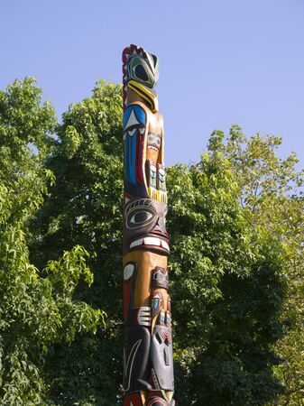 klondyke: Totem Pole by the Space Needle in Seattle Washington USA