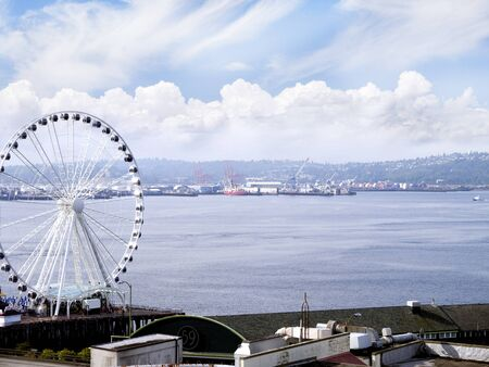 klondyke: Ferris Wheel in Seattle Washington State USA Stock Photo