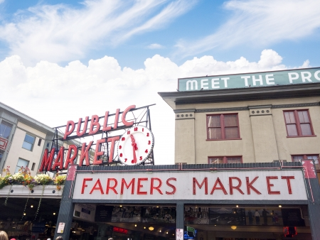 pike: Pike Place Farmers Market,Seattle ,Washington State USA Editorial