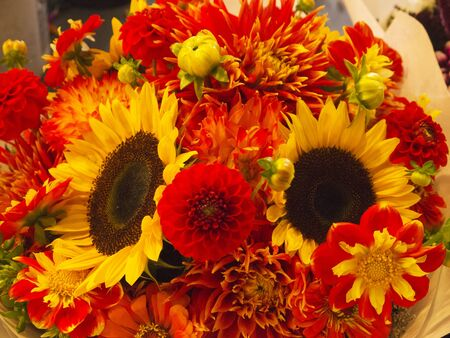 pike place: Flowers in Pike Place Farmers Market,Seattle ,Washington State USA Stock Photo
