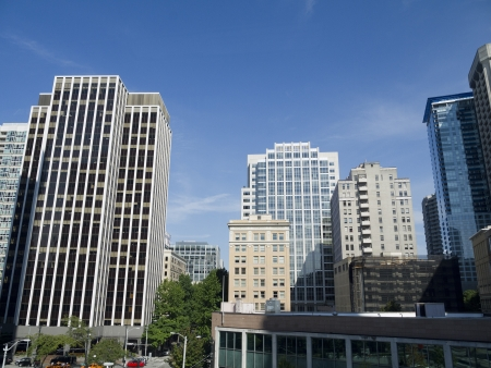 The city skyline of Seattle Washington State USA Stock Photo - 17201657