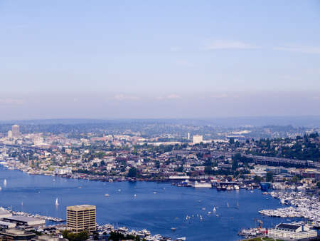 klondyke: view from top of the Space Needle in Seattle Washington USA Editorial