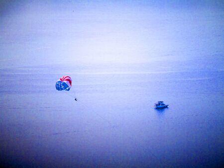 Para Glider in Bay in Seattle Washington USA Stock Photo - 17201574