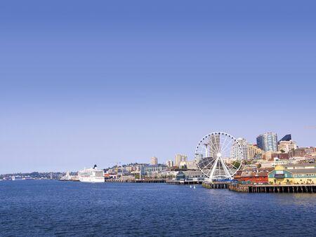The city skyline of Seattle Washington State USA Stock Photo - 17201610