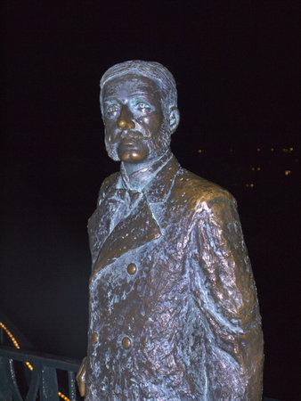 Statue of King Alphonso on the Balcon de Europa in erja Sp ain Stock Photo - 17298162