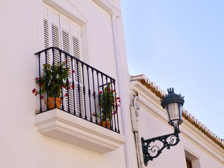 Nerja, a sleepy Spanish Holiday resort on the Costa Del Sol  near Malaga, Andalucia, Spain, Europe photo