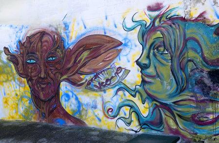 Graffitti in Housing Project in Nerja Spain Stock Photo - 17327215
