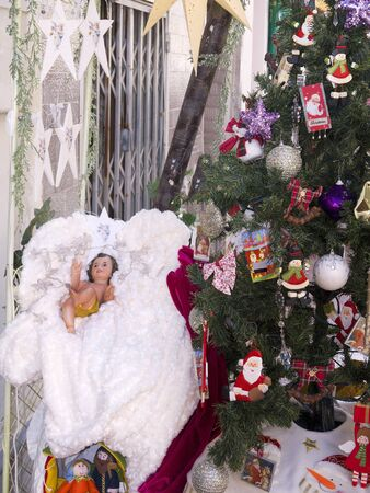 Christmas crib in Nerja Andalucia Spain photo