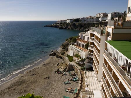 View from the Balcon de Europa in Nerja Andalucia photo