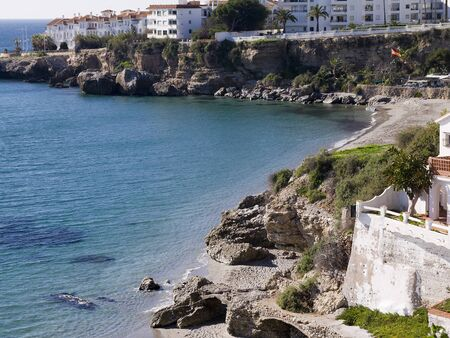 View from the Balcon de Europa in Nerja Andalucia Stock Photo - 17391657