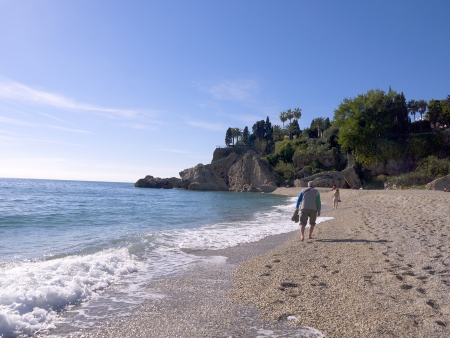 the Burriana Beach in Nerja Andalucia Spain Stock Photo - 17446141