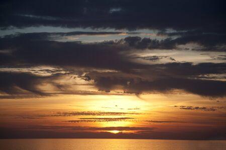 nerja: Sunset over Nerja Andalucia Spain Stock Photo