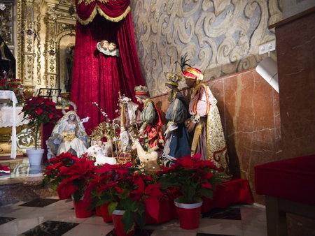 nerja: Christmas crib in Nerja Andalucia Spain