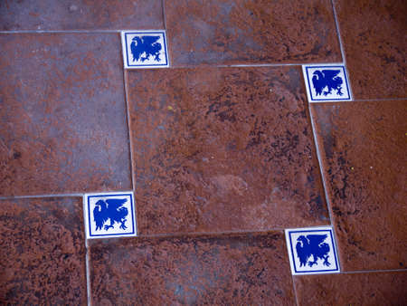 Old medieval style tiles in Nerja Spain Stock Photo - 17482449