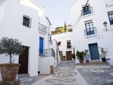Frigiliana one of the most beautiful  white  villages of the Southern Spain area of Andalucia in the Alpujarra mountains  Stock Photo - 17465902