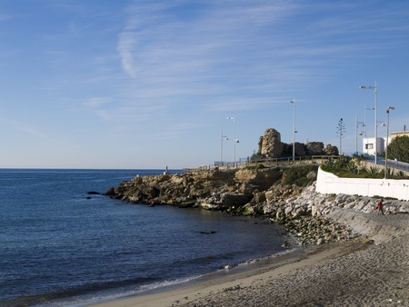 andalucia: Beach at Nerja Andalucia Spain