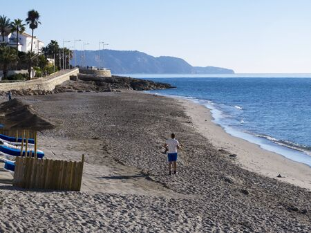 Beach at Nerja Andalucia Spain photo