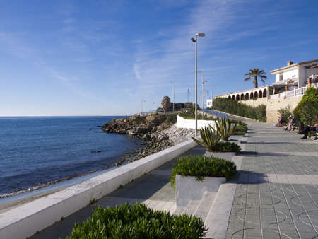 Beach at Nerja Andalucia Spain Stock Photo - 17554780