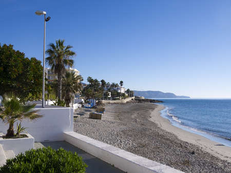 burriana beach: Beach at Nerja Andalucia Spain