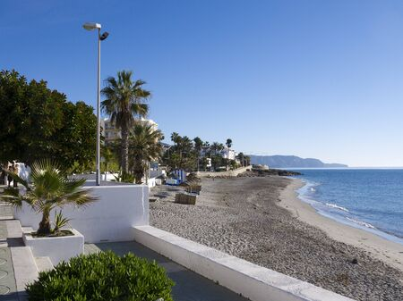Beach at Nerja Andalucia Spain Stock Photo - 17561684