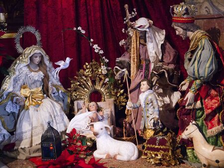 Christmas crib in Nerja Andalucia Spain Stock Photo - 17562424