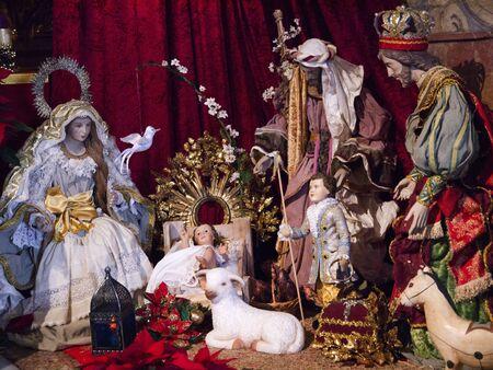nerja: Navidad cuna en Nerja Andalucia Espa�a
