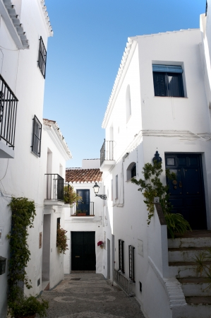 Frigiliana one of the most beautiful  white  villages of the Southern Spain area of Andalucia in the Alpujarra mountains  Stock Photo - 17562436