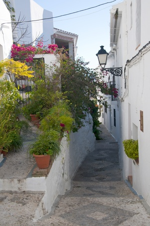 Frigiliana one of the most beautiful  white  villages of the Southern Spain area of Andalucia in the Alpujarra mountains Stock Photo - 17562643