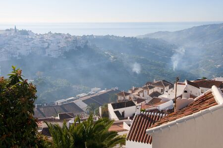 Frigiliana one of the most beautiful  white  villages of the Southern Spain area of Andalucia in the Alpujarra mountains Stock Photo - 17562621