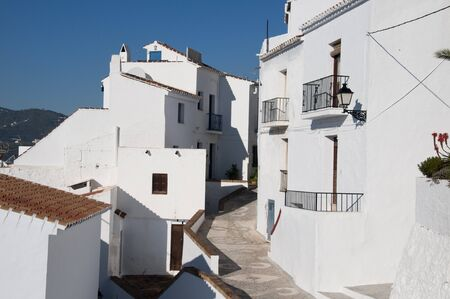 Frigiliana one of the most beautiful  white  villages of the Southern Spain area of Andalucia in the Alpujarra mountains  Stock Photo - 17562478