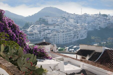 Frigiliana one of the most beautiful  white  villages of the Southern Spain area of Andalucia in the Alpujarra mountains  photo