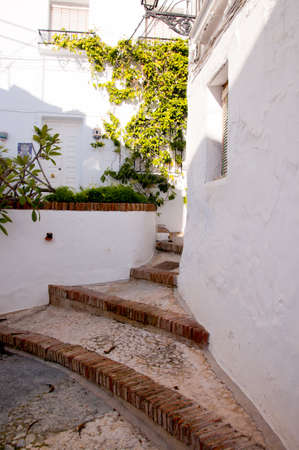 Frigiliana one of the most beautiful  white  villages of the Southern Spain area of Andalucia in the Alpujarra mountains  Stock Photo - 17562504