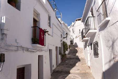 Frigiliana one of the most beautiful  white  villages of the Southern Spain area of Andalucia in the Alpujarra mountains  Stock Photo - 17562481