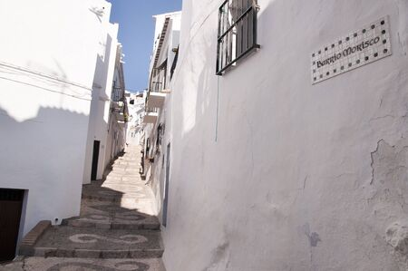 Frigiliana one of the most beautiful  white  villages of the Southern Spain area of Andalucia in the Alpujarra mountains  Stock Photo - 17562485