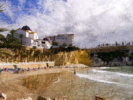Beach in Benidorm Costa Blanca Spain Europe Stock Photo - 17562123