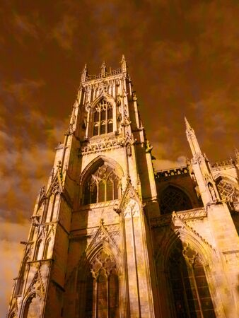 York Minster is a Gothic cathedral in York, England and is one of the largest of its kind in Northern Europe  photo