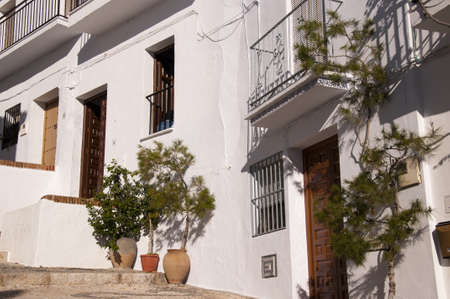 Frigiliana one of the most beautiful  white  villages of the Southern Spain area of Andalucia in the Alpujarra mountains Stock Photo - 17562096