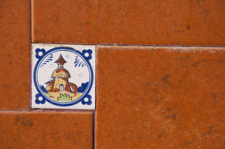Ceramic Picture Tiles in Frigiliana Andalucia Spain photo