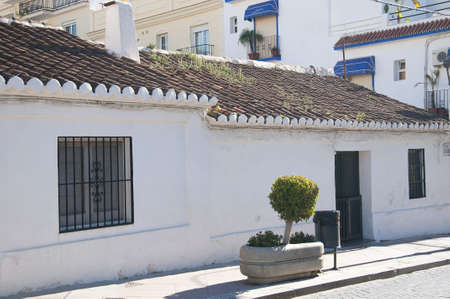 fishermens: One of the last few original Fishermens cottages in Nerja Andalucia Spain Stock Photo