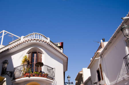 Nerja, a sleepy Spanish Holiday resort on the Costa Del Sol  near Malaga, Andalucia, Spain, Europe Stock Photo - 17562032