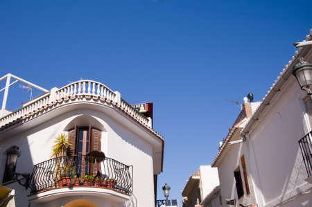 Nerja, a sleepy Spanish Holiday resort on the Costa Del Sol  near Malaga, Andalucia, Spain, Europe Stock Photo - 17562032