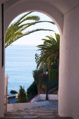 View from the Balcon de Europa in Nerja Andalucia Stock Photo - 17561770