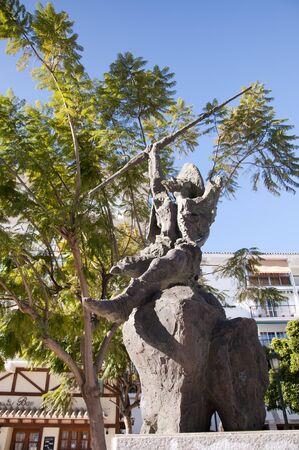don quijote: Estatua de Don Quijote en Nerja Espa�a Foto de archivo
