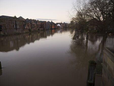 Floods in York city centre in December 2012 photo