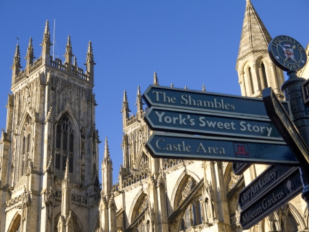 Signpost in York England